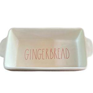 Rae Dunn ivory gingerbread dish